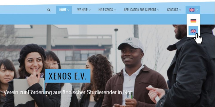 XENOS Website in English